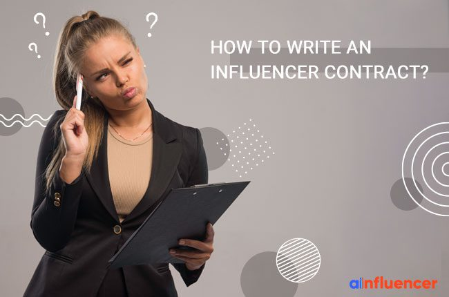 Write an Influencer Contract