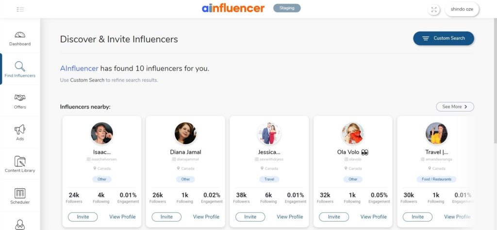 find influencers on Ainfluencers