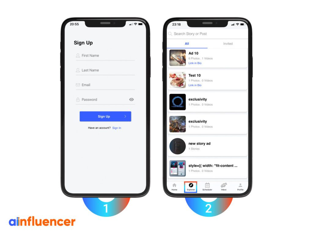 Find ads On Ainfluencer