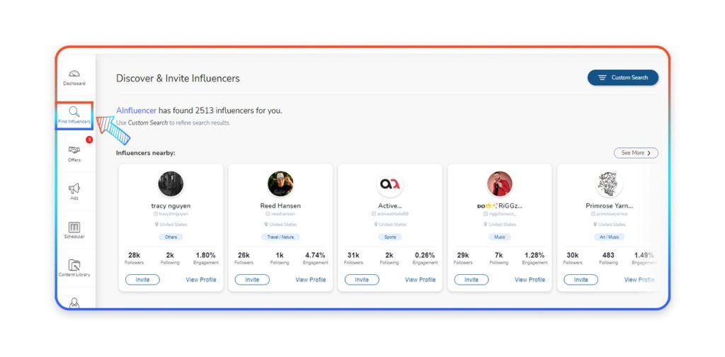 find influencer on Ainfluencer