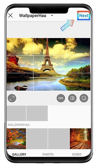 Horizontal photo size on IG
