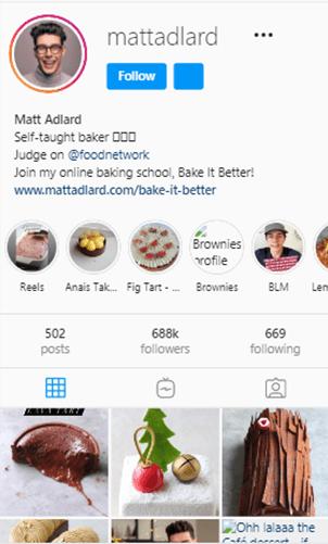 Instagram bio caption