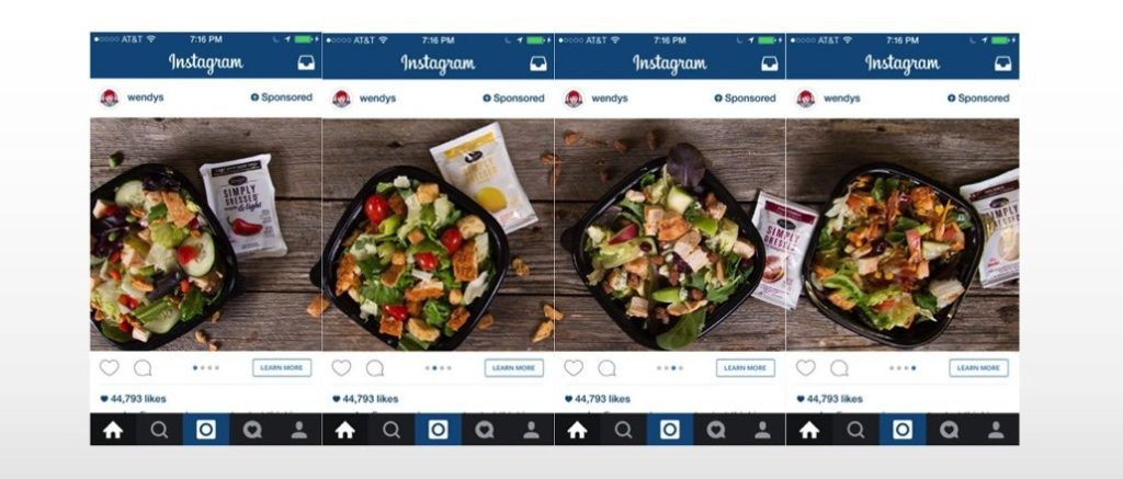 instagram carousel advertising examples