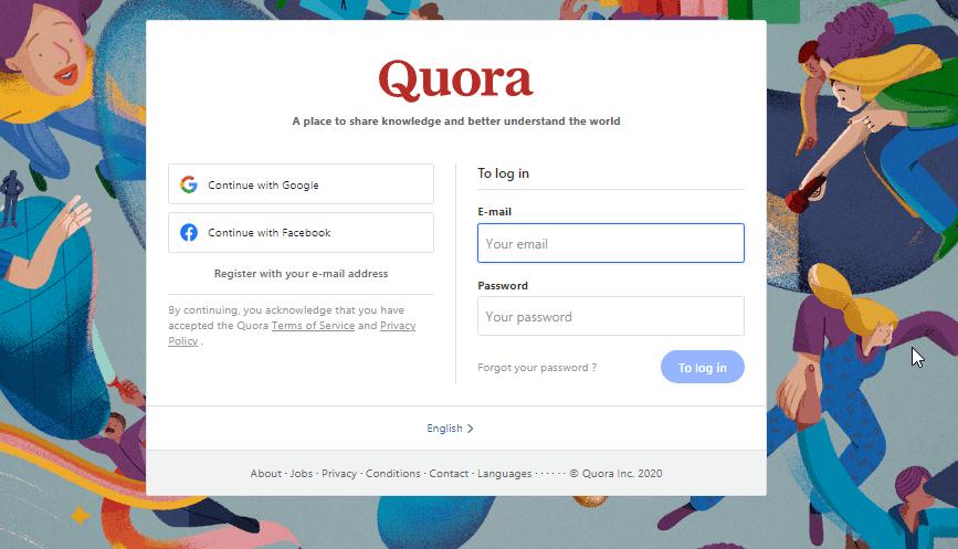Quora as resource
