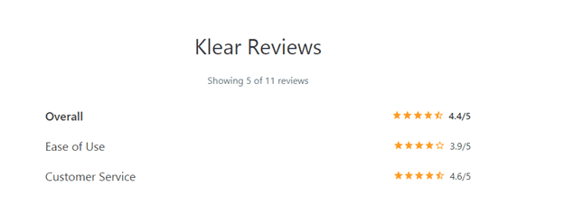 klear reviews